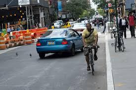 biker wrong way